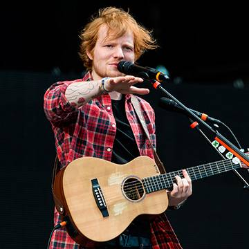"Imagem: ""Thinking Out Loud"" de Ed Sheeran alcança marca na parada do Reino Unido"