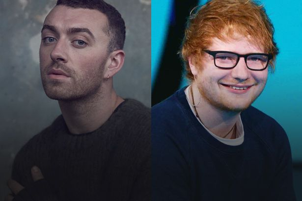 Imagem: Sam Smith e Ed Sheeran no Brit Awards 2018 - Ed Sheeran
