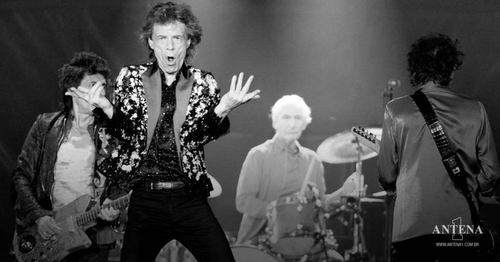 Placeholder - loading - Rolling Stones em fundo preto e branco