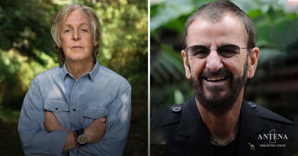 Placeholder - loading - Paul McCartney e Ringo Starr em seus respectivos cenários