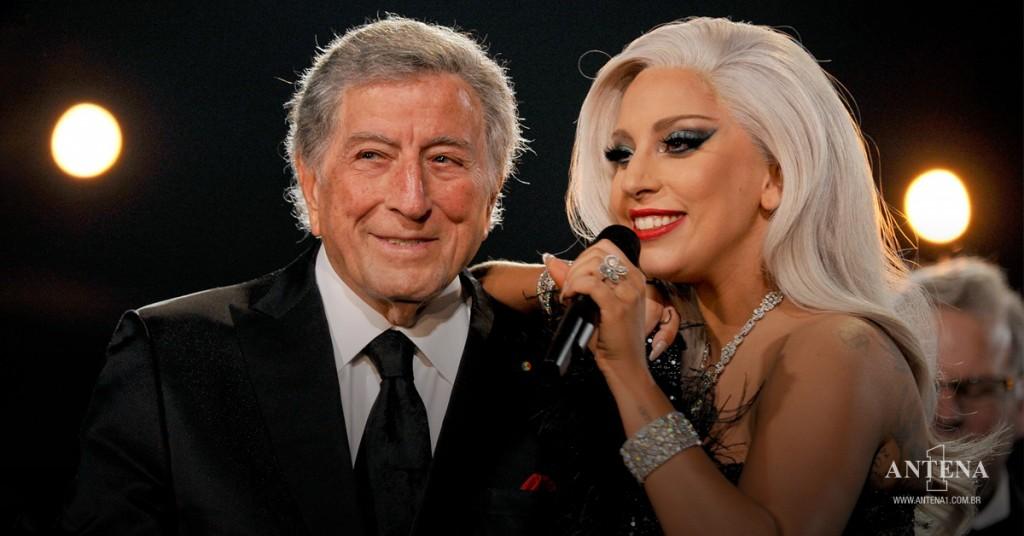 Placeholder - loading - Lady Gaga e Tony Bennett em fundo preto