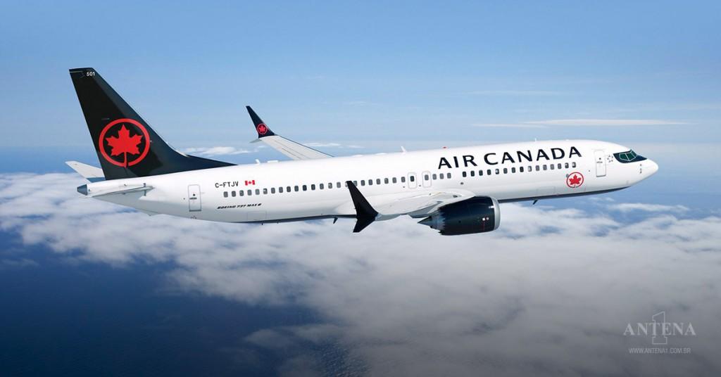Placeholder - loading - Avião da Air Canada em operação. Crédito da imagem: iStock