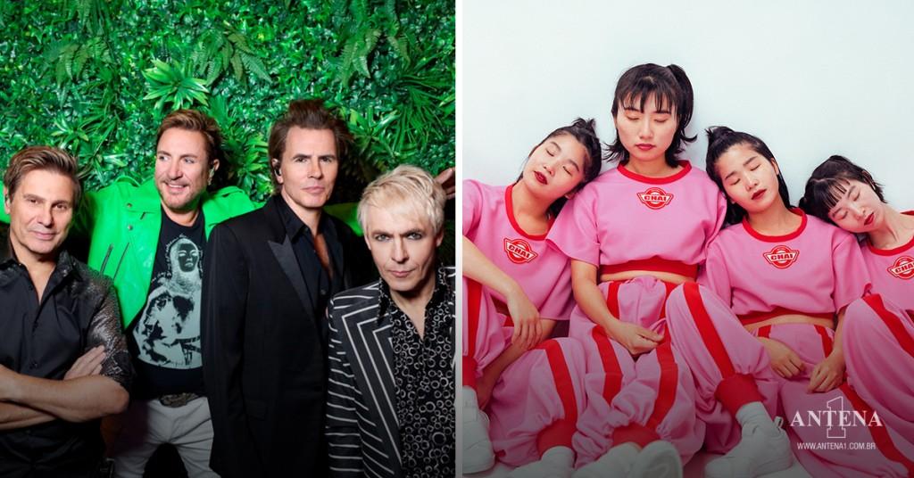 Placeholder - loading - Duran Duran e CHAI em seus respectivos cenários