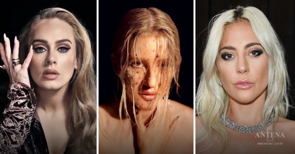 Placeholder - loading - Da direita para esquerda: Adele, Ellie Goulding e Lady Gaga – Antena 1/Divulgação