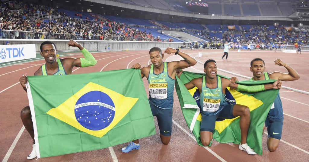 Placeholder - loading - Equipe brasileira vence prova de 4x100 metros em Mundial de Atletismo em Yokohama Kyodo/via REUTERS