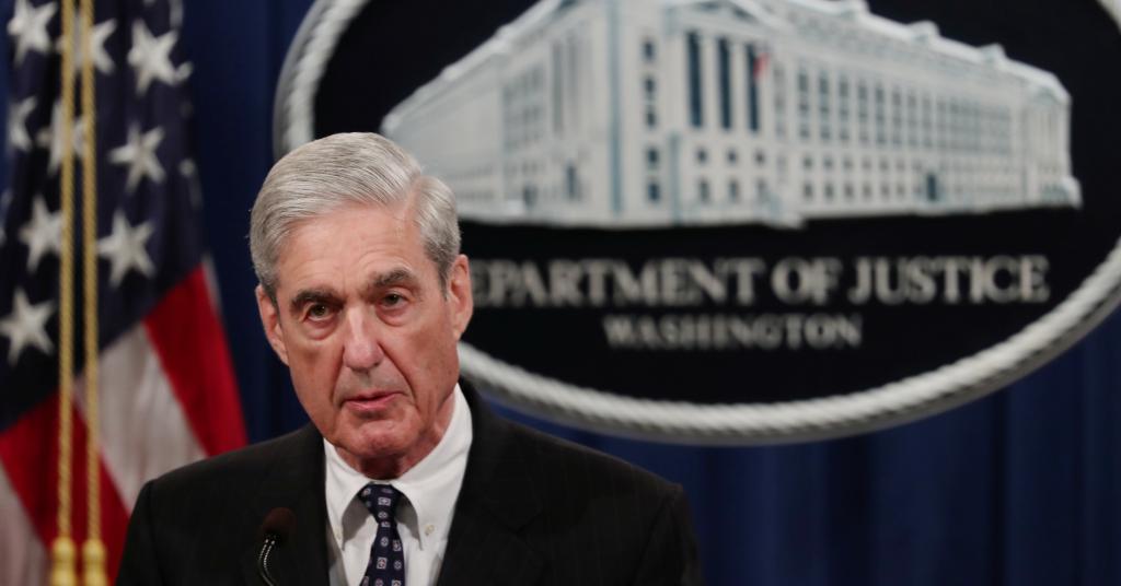 Placeholder - loading - Procurador especial Robert Mueller faz declaração no Departamento de Justiça, em Washington 29/05/2019 REUTERS/Jim Bourg
