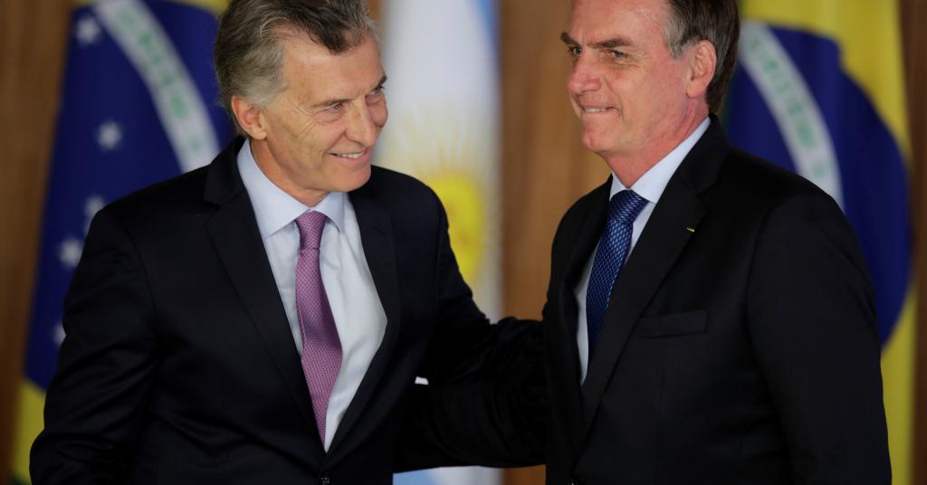 Placeholder - loading - Presidente argentino, Mauricio Macri, e presidente do Brasil, Jair Bolsonaro, em Brasília 16/01/2019 REUTERS/Ueslei Marcelino