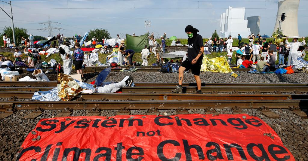 Placeholder - loading - Protesto contra o aquecimento global perto de mina de carvão na Alemanha 22/06/2019 REUTERS/Thilo Schmuelgen