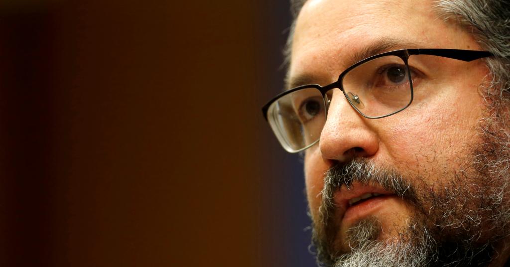 Placeholder - loading - Ministro Ernesto Araujo fala durante entrevista no Itamaraty 2/7/2019 REUTERS/Adriano Machado