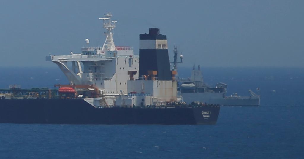 Placeholder - loading - Petroleiro Grace 1 nas águas de Gibraltar 04/07/2019 REUTERS/Jon Nazca