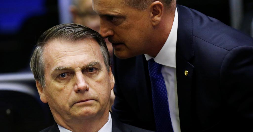 Placeholder - loading - Presidente Jair Bolsonaro e ministro Onyx Lorenzoni na Câmara dos Deputados 10/07/2019 REUTERS/Adriano Machado