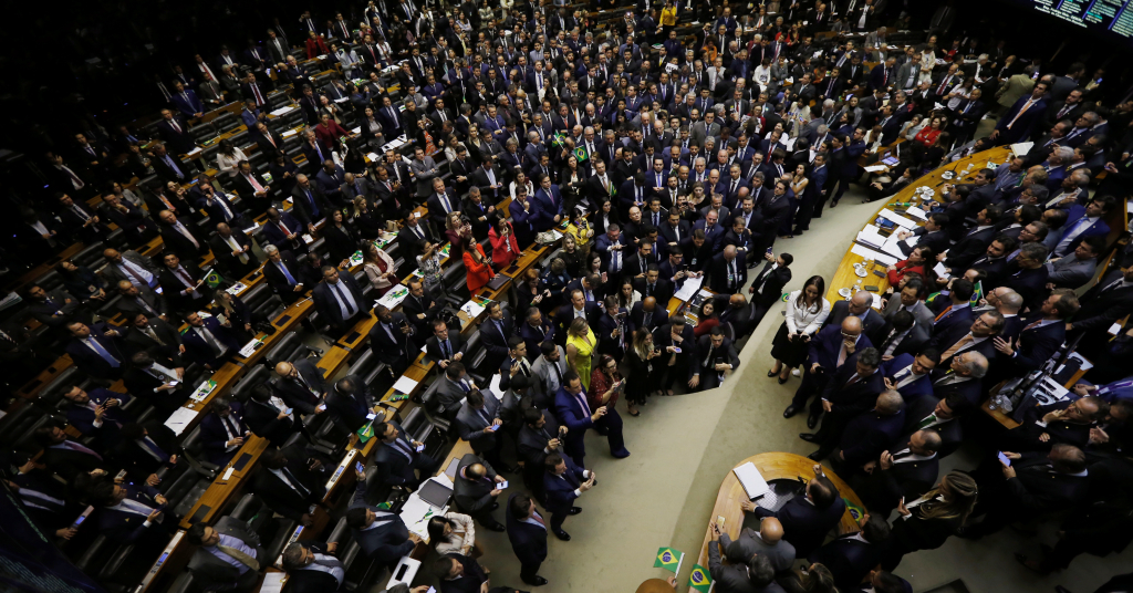Placeholder - loading - A general view of the plenary chamber of deputies during a session to vote on the pension reform bill in Brasilia, Brazil July 10, 2019. REUTERS/Adriano Machado