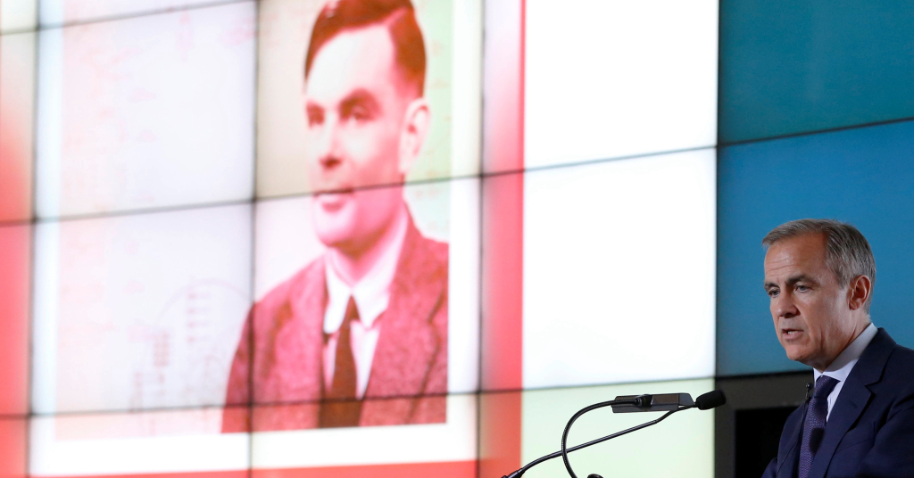Placeholder - loading - Presidente do Banco da Inglaterra, Mark Carney, apresenta nova nota de 50 libras com rosto de Alan Turing 15/07/2019 REUTERS/Andrew Yates