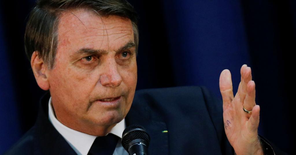 Placeholder - loading - Presidente Jair Bolsonaro discursa durante cerimônia em Brasília 11/07/2019 REUTERS/Adriano Machado