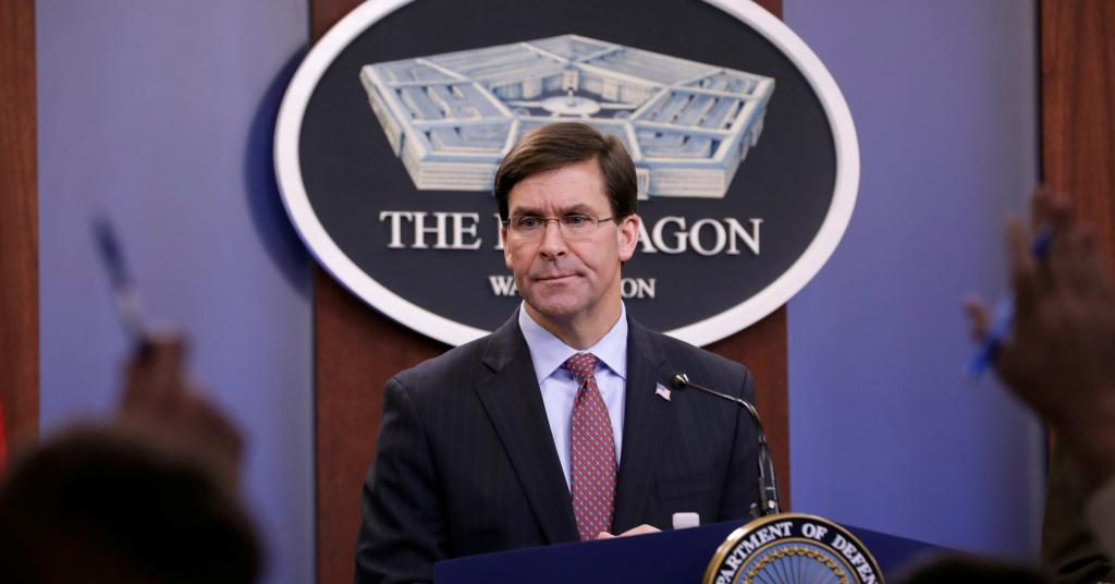 Placeholder - loading - Secretário de Defesa dos EUA, Mark Esper 20/12/2019 REUTERS/Yuri Gripas