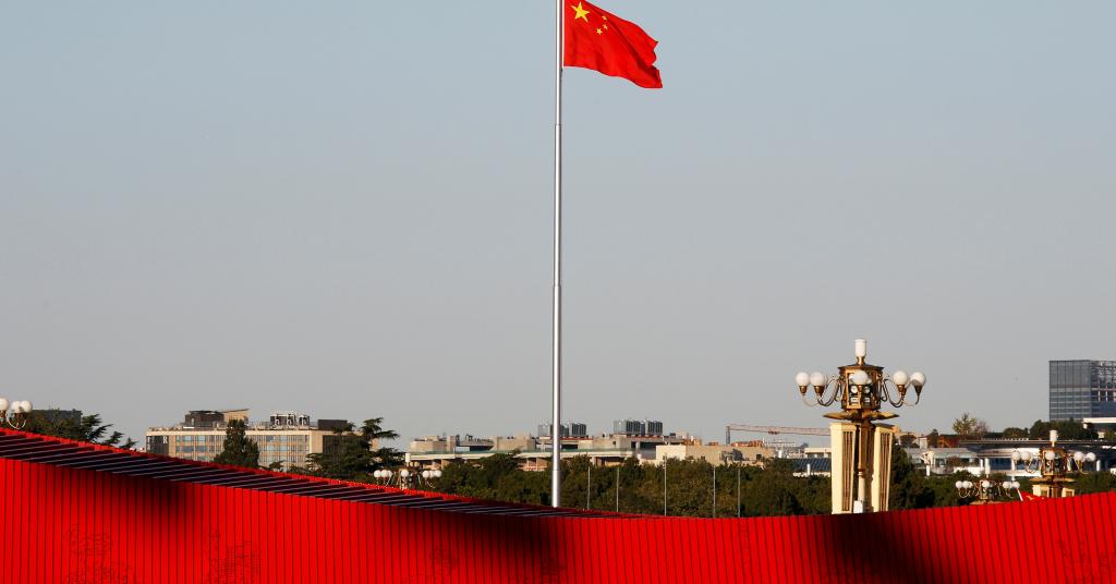 Placeholder - loading - Bandeira da China na Praça da Paz Celestial em Pequim 25/10/2019 REUTERS/Florence Lo