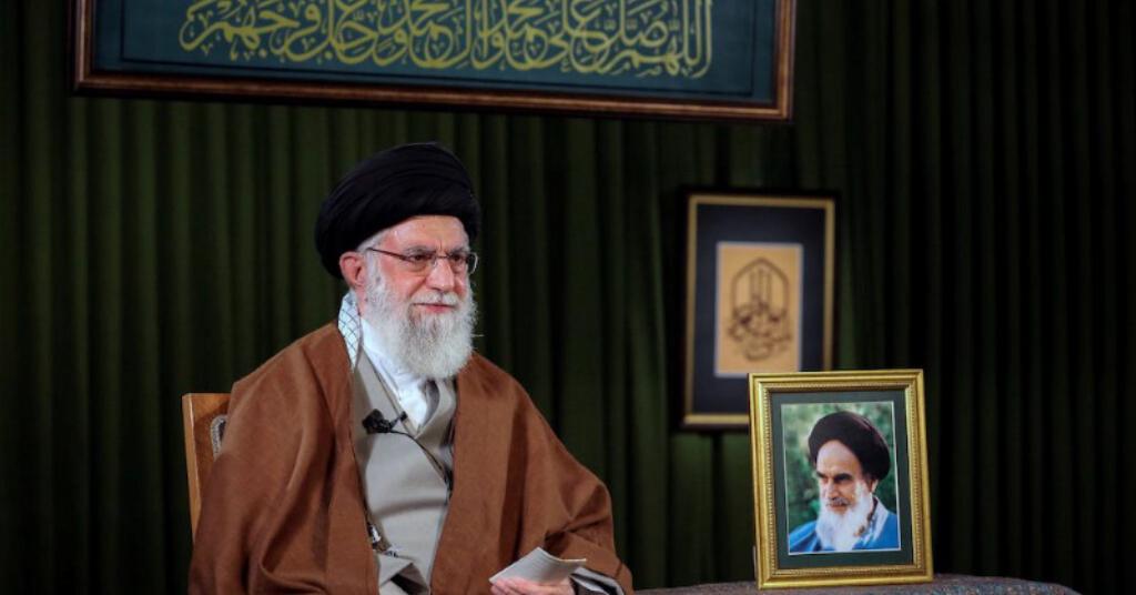 Placeholder - loading - Líder supremo do Irã, aiatolá Khamenei, faz discurso sobre o ano novo persa, em Teerã Site oficial de Khamenei/Divulgação via REUTERS