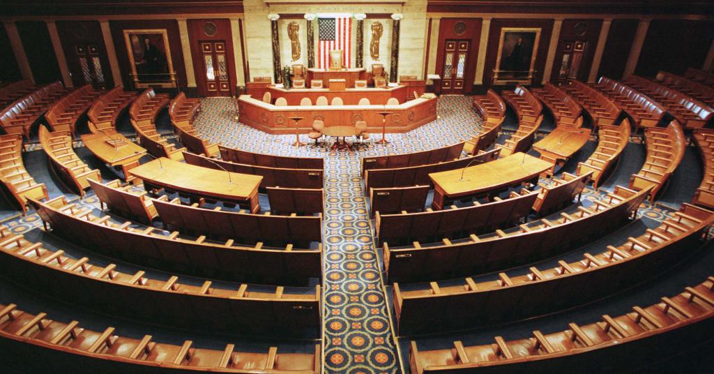 Placeholder - loading - Vista panorâmica da Câmara dos Deputados dos EUA  15/12/1998 REUTERS