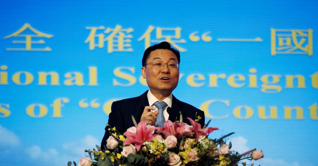 Placeholder - loading - Xie Feng discursa em Hong Kong 25/05/2020 REUTERS/James Pomfret