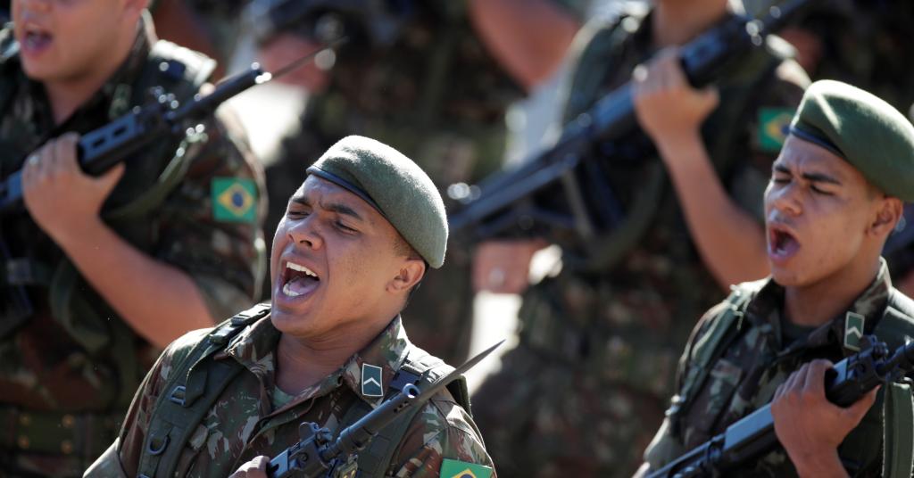 Placeholder - loading - Soldados participam de parada militar em Brasília 29/03/2019 REUTERS/Ueslei Marcelino
