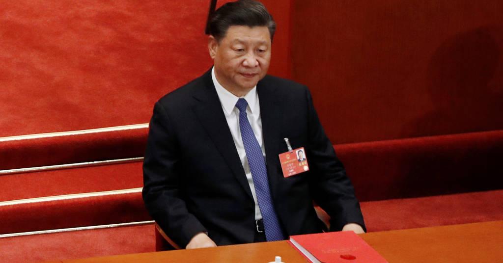 Placeholder - loading - Presidente da China, Xi Jinping, durante sessão do Congresso do país em Pequim 28/05/2020 REUTERS/Carlos Garcia Rawlins
