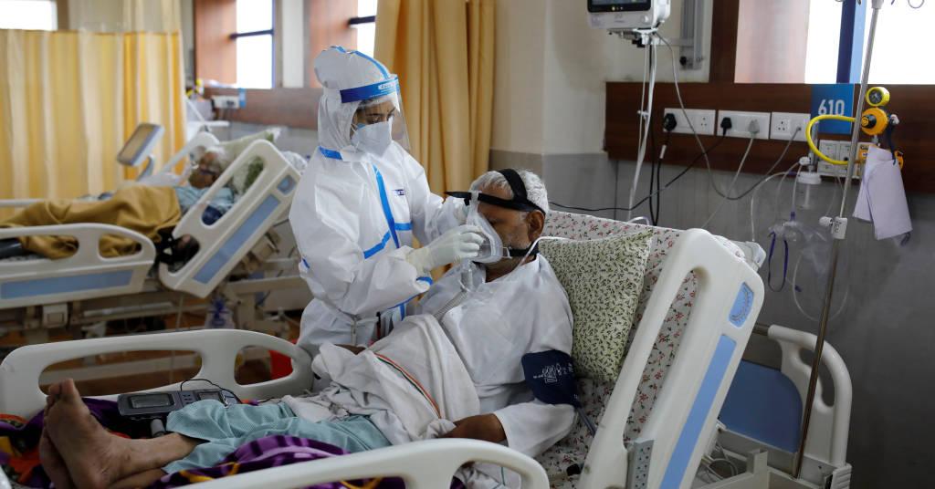 Placeholder - loading - Pacientes infectados com o novo coronavírus internados na UTI de hospital nos subúrbios em Nova Délhi 15/09/2020 REUTERS/Adnan Abidi
