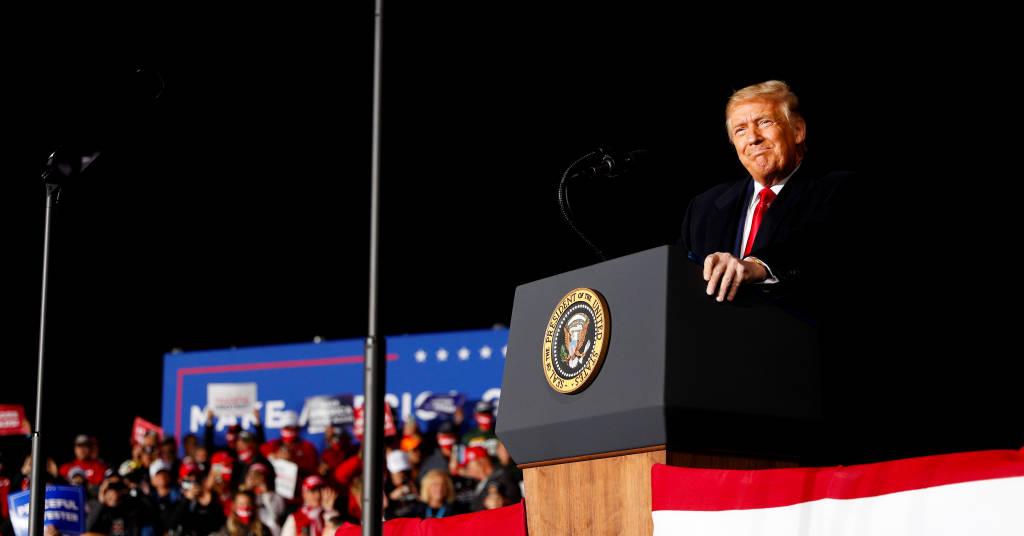 Placeholder - loading - Presidente dos EUA, Donald Trump, durante evento de campanha em Mosinee, no Wisconsin 17/09/2020 REUTERS/Tom Brenner