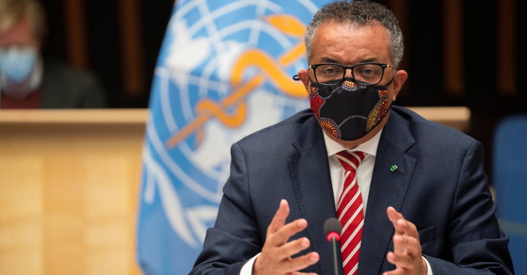 Placeholder - loading - Tedros Adhanom Ghebreyesus, Director General of the World Health Organization (WHO) attends a session on the coronavirus disease (COVID-19) outbreak response of the WHO Executive Board in Geneva, Swit