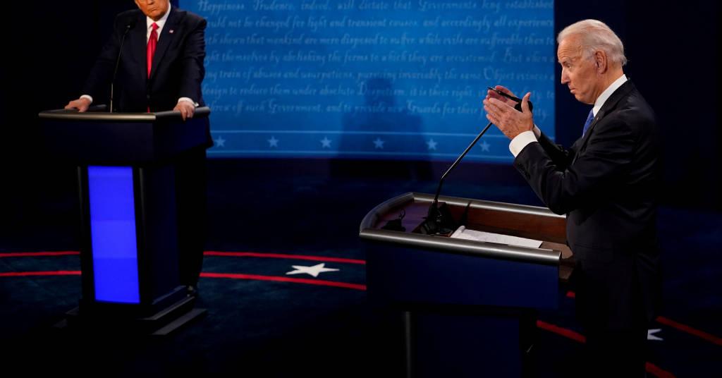 Placeholder - loading - Trump e Biden participaram do último debate presidencial, em Nashville, Tennessee 22/10/2020 Morry Gash/Pool via REUTERS