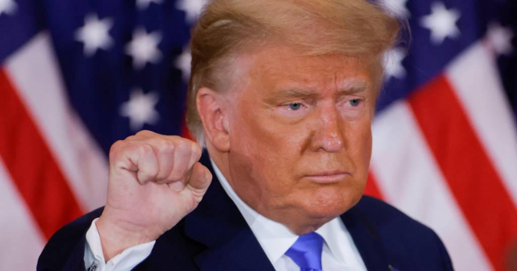 Placeholder - loading - Presidente dos EUA, Donald Trump, acompanha apuração de eleição na Casa Branca 04/11/2020 REUTERS/Carlos Barria