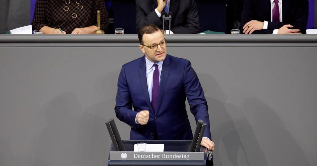 Placeholder - loading - Ministro da Saúde da Alemanha, Jens Spahn, durante sessão do Parlamento do país em Berlim 06/11/2020 REUTERS/Axel Schmidt