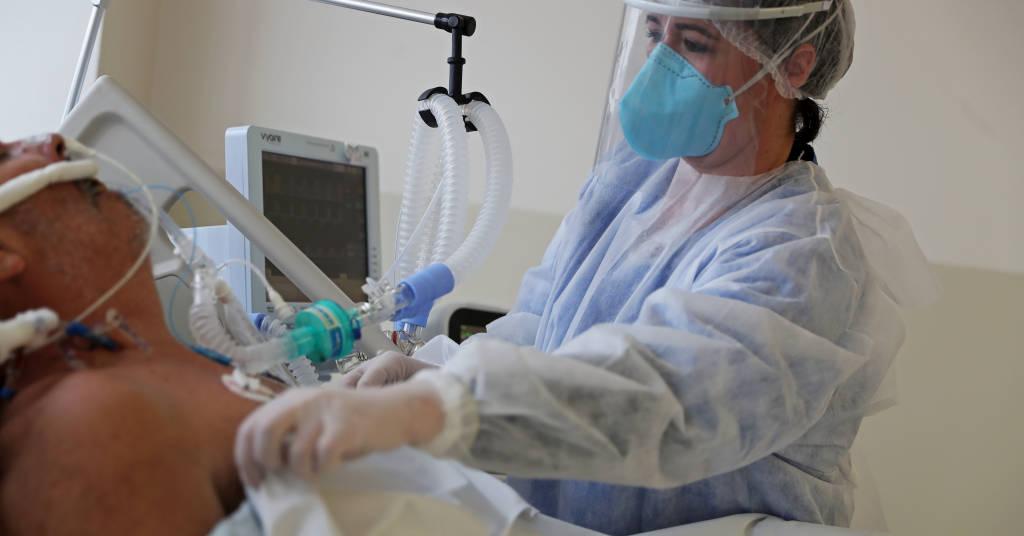 Placeholder - loading - Paciente com Covid-19 é tratado em hospital em São Paulo 03/06/2020 REUTERS/Amanda Perobelli