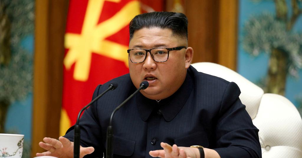 Placeholder - loading - Líder da Coreia do Norte, Kim Jong Un 11/04/2020 KCNA/via REUTERS