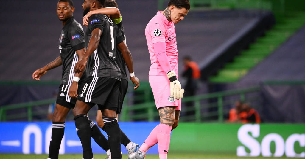 Placeholder - loading - Moussa Dembelé comemora gol marcado pelo Lyon contra o Manchester City pela Liga dos Campeões 15/08/2020 Franck Fife/Pool via REUTERS
