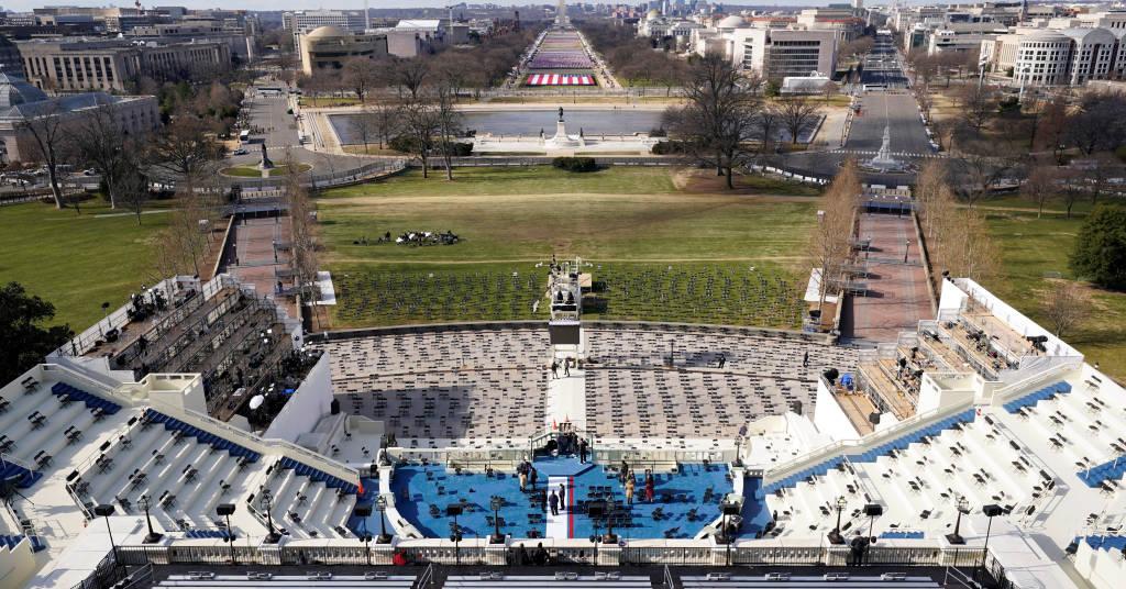 Placeholder - loading - Local da posse do democrata Joe Biden na Presidência dos EUA, em Washington 19/01/2021 Susan Walsh/Pool via REUTERS