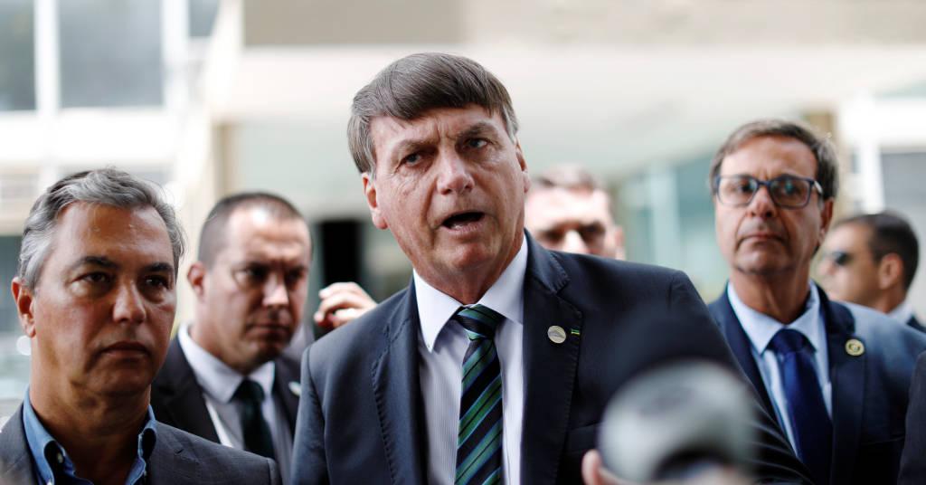 Placeholder - loading - Presidente Jair Bolsonaro fala com jornalistas após reunião no Ministério da Economia 27/01/2021 REUTERS/Ueslei Marcelino