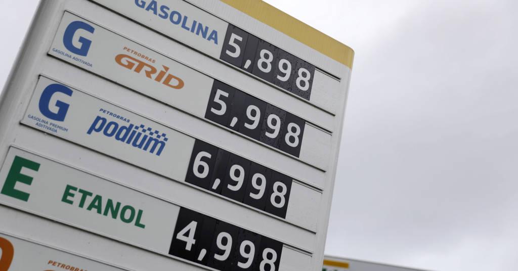 Placeholder - loading - Painel com preços de combustíveis no Rio de Janeiro REUTERS/Ricardo Moraes