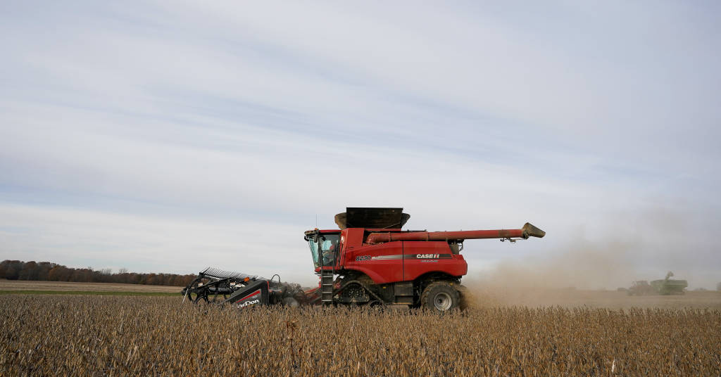 Placeholder - loading - Colheita de soja REUTERS/Bryan Woolston