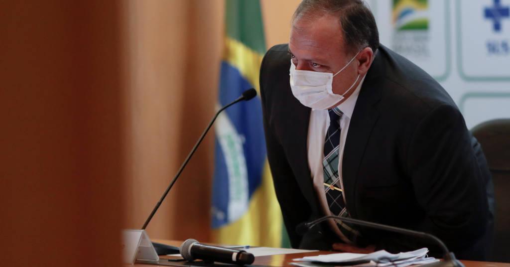 Placeholder - loading - Ministro da Saúde, Eduardo Pazuello, concede entrevista coletiva em Brasília 15/03/2021 REUTERS/Ueslei Marcelino