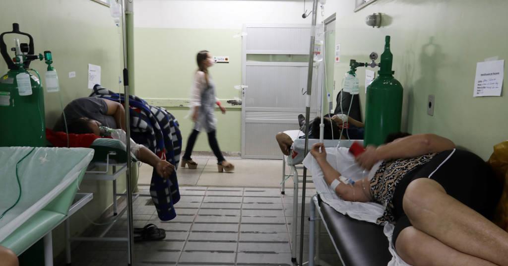 Placeholder - loading - Pacientes com Covid-19 aguardam transferência para UTI em hospital em Bauru (SP)  23/03/2021 REUTERS/Leonardo Benassatto