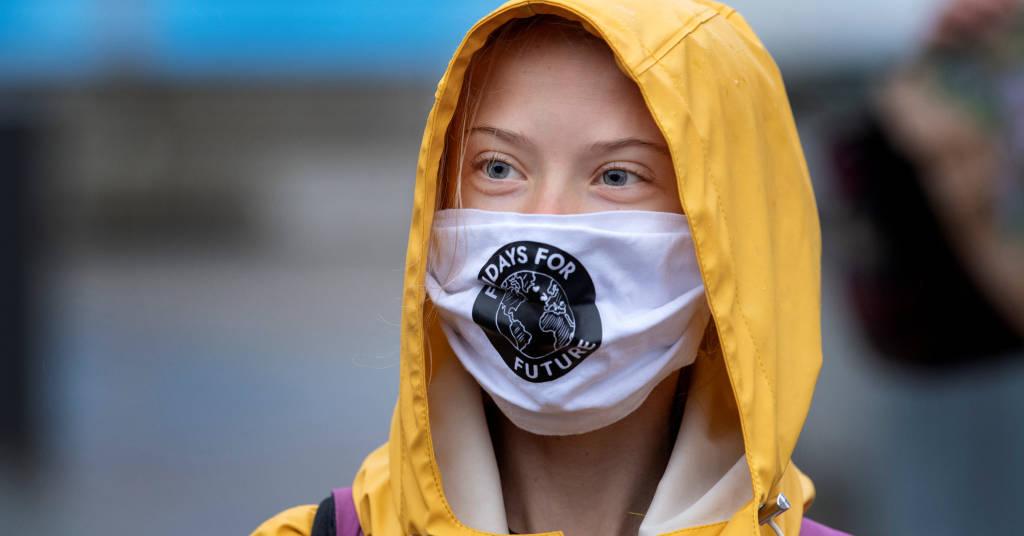 Placeholder - loading - Greta em protesto em Estocolmo (Fridays For Future) no Parlamento sueco em Estocolmo  9/10/ 2020 Jessica Gow /TT News Agency/via REUTERS