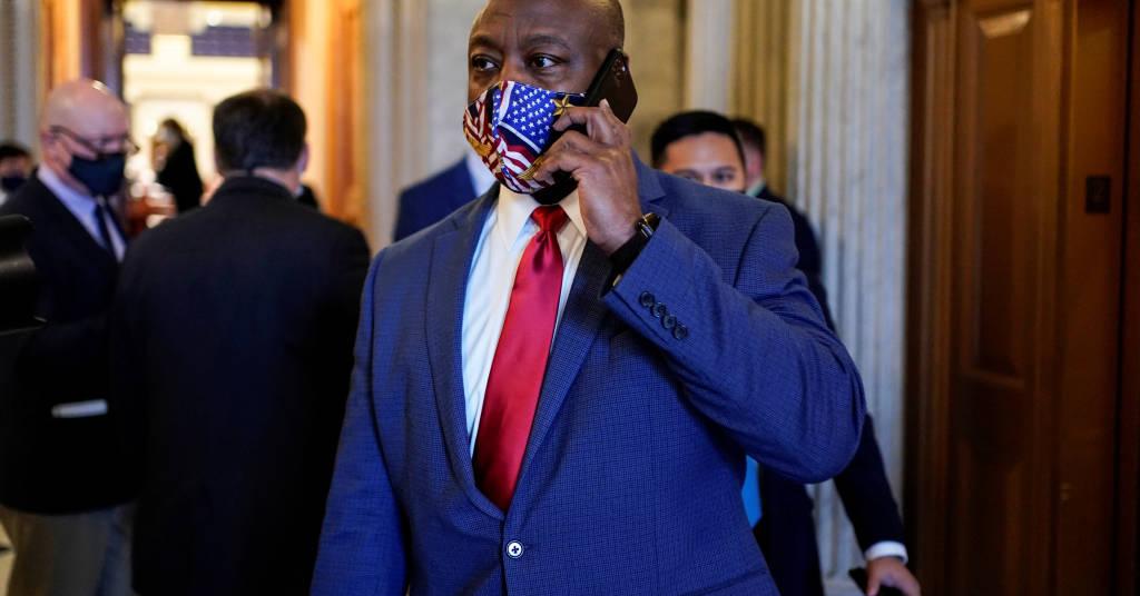 Placeholder - loading - Senador norte-americano pelo Partido Republicano Tim Scott em Washington 01/01/2021 REUTERS/Joshua Roberts