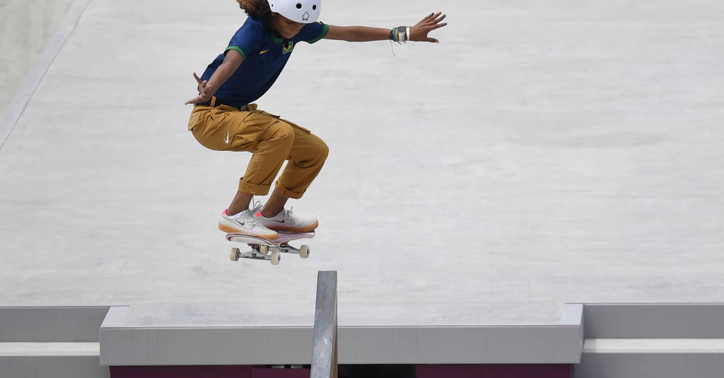 Placeholder - loading - Rayssa Leal durante a Olimpíada Tóquio 2020  26/07/2021 REUTERS/Toby Melville