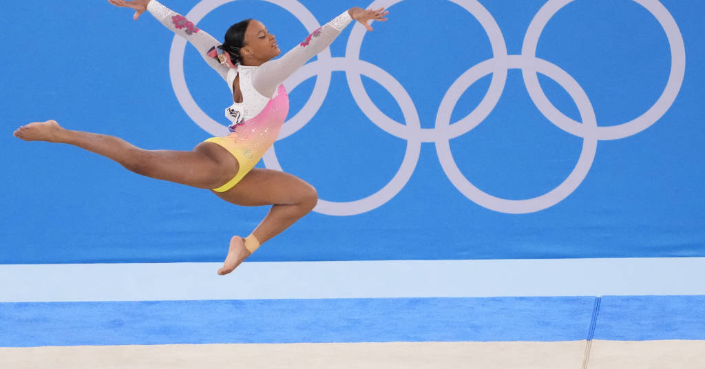Placeholder - loading - Rebeca Andrade compete no solo durante Olimpíada de Tóquio 02/08/2021 Robert Deutsch-USA TODAY Sports