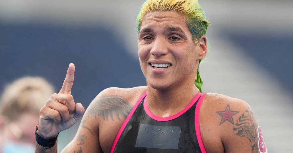 Placeholder - loading - Ana Marcela Cunha comemora medalha de ouro conquistada na Tóquio 2020 04/08/2021 Kareem Elgazzar-USA TODAY Sports