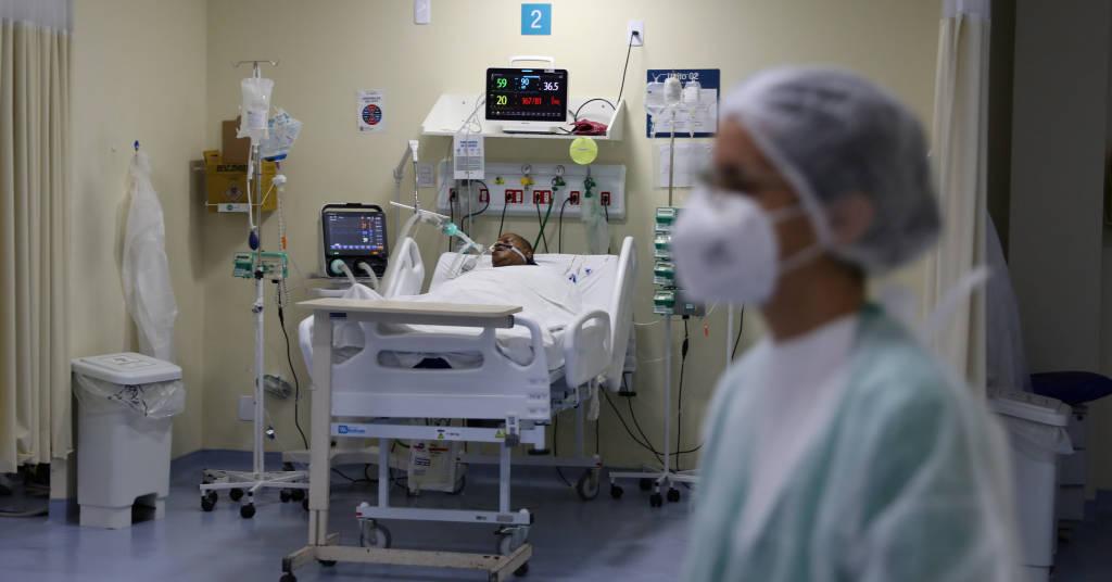 Placeholder - loading - Paciente com Covid-19 na UTI do hospital Ronaldo Gazolla, no Rio de Janeiro (RJ)  18/06/2021 REUTERS/Pilar Olivares