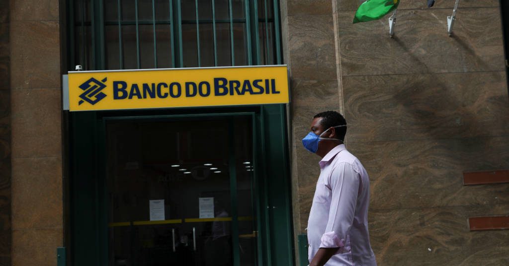 Placeholder - loading - Vista externa de agência do Banco do Brasil. 24/3/2020. REUTERS/Amanda Perobelli
