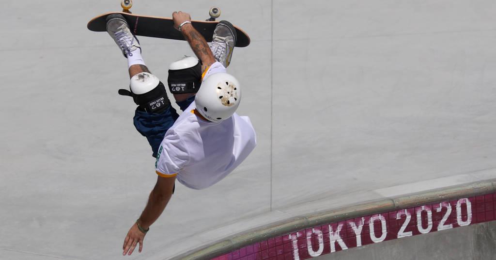 Placeholder - loading - Pedro Barros durante competição do skate park na Olimpíada de Tóquio 05/08/2021 REUTERS/Lisi Niesner