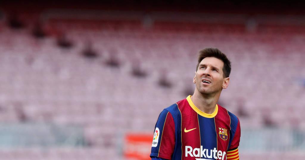 Placeholder - loading - Lionel Messi em partida do Barcelona 16/05/2021