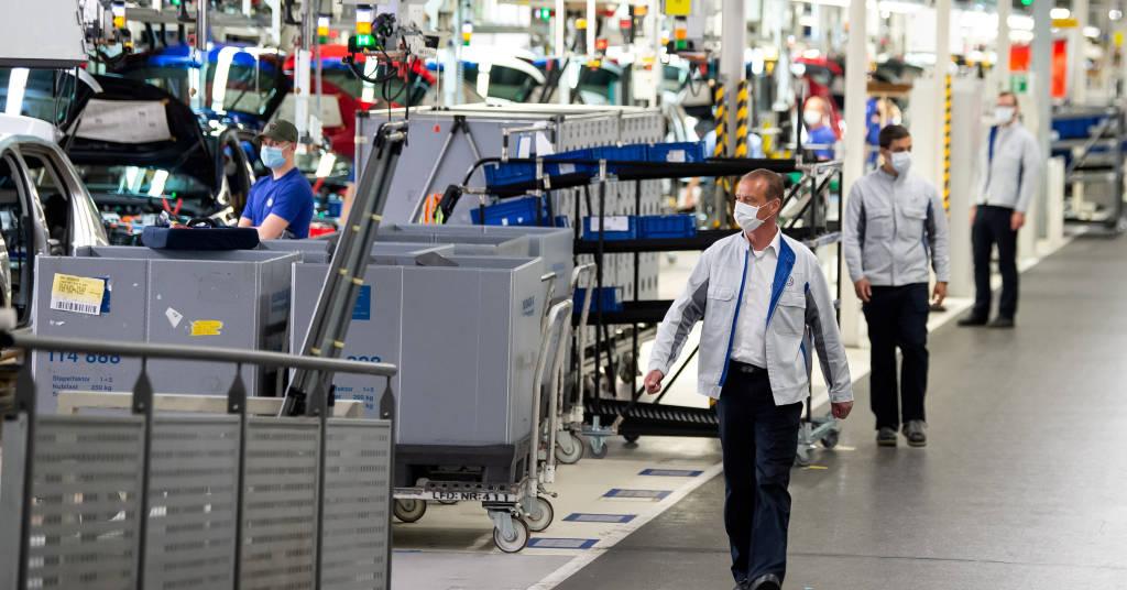 Placeholder - loading - Fábrica da VW em  Wolfsburg, Alemanha 27/04/ 2020.  Swen Pfoertner/Pool via REUTERS